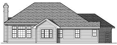 Rear Elevation Plan: 7-614