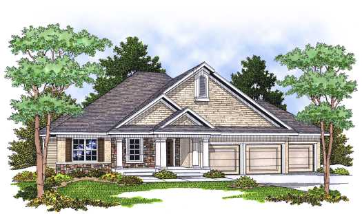 Traditional Style Home Design Plan: 7-615