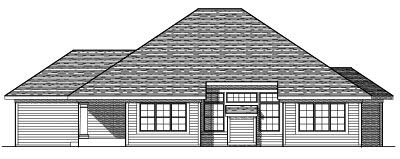 Rear Elevation Plan: 7-615