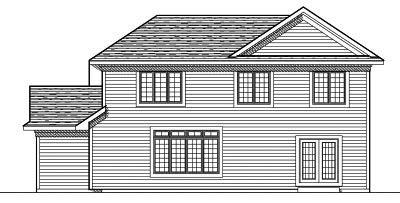 Rear Elevation Plan: 7-616