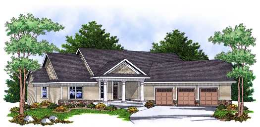 Traditional Style Floor Plans Plan: 7-618