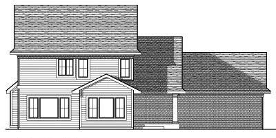 Rear Elevation Plan: 7-619