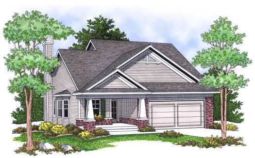 Craftsman Style Home Design Plan: 7-620