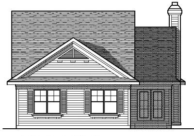 Rear Elevation Plan: 7-620