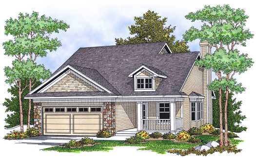 Traditional Style House Plans Plan: 7-621