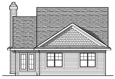 Rear Elevation Plan: 7-621