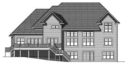 Rear Elevation Plan: 7-622