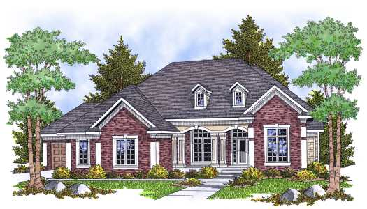 Traditional Style Home Design Plan: 7-623