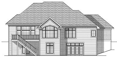 Rear Elevation Plan: 7-624