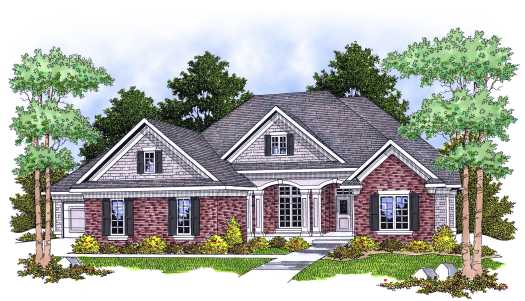 Southern Style Home Design Plan: 7-625
