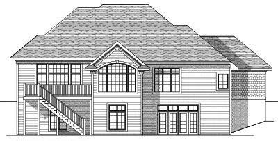 Rear Elevation Plan: 7-625