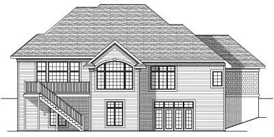 Rear Elevation Plan: 7-628