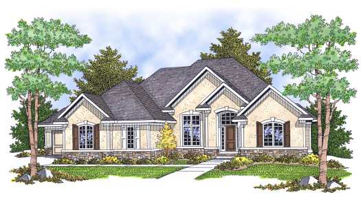 European Style Floor Plans Plan: 7-629