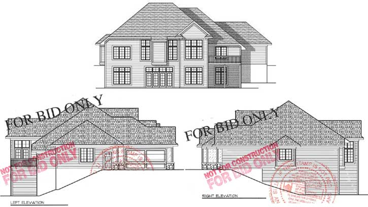 Rear Elevation Plan: 7-629