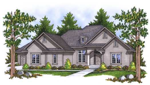 Traditional Style Home Design Plan: 7-633