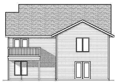 Rear Elevation Plan: 7-635