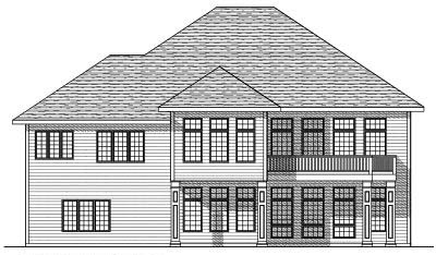 Rear Elevation Plan: 7-638