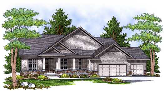 Traditional Style Home Design Plan: 7-640