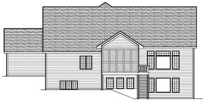 Rear Elevation Plan: 7-640
