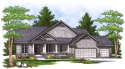 Traditional Style Home Design Plan: 7-641