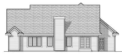 Rear Elevation Plan: 7-642