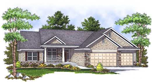 Traditional Style Home Design Plan: 7-643