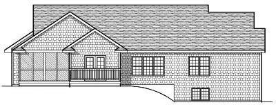 Rear Elevation Plan: 7-643