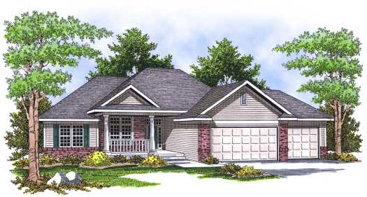 Traditional Style Home Design Plan: 7-644