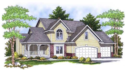Country Style Home Design Plan: 7-647