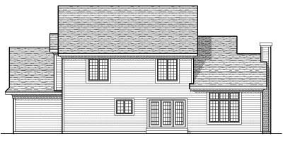 Rear Elevation Plan: 7-647