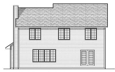 Rear Elevation Plan: 7-648