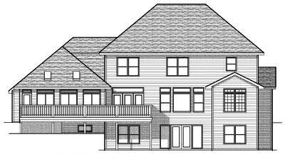 Rear Elevation Plan: 7-649