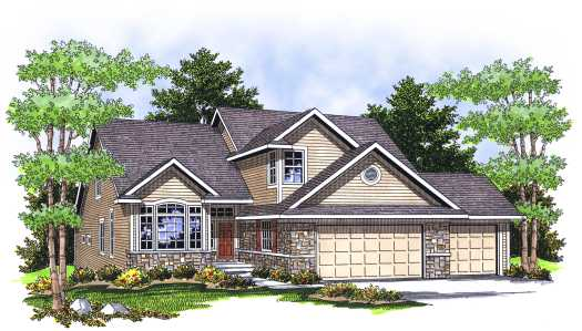 Traditional Style Home Design Plan: 7-650