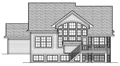Rear Elevation Plan: 7-650