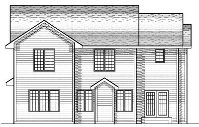Rear Elevation Plan: 7-651