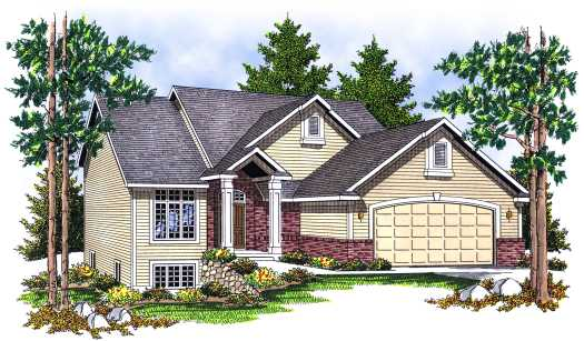 Traditional Style Home Design Plan: 7-652