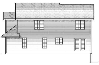Rear Elevation Plan: 7-652