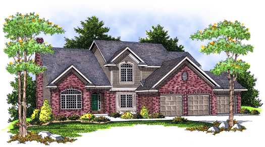 Traditional Style Home Design Plan: 7-653