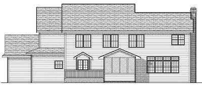 Rear Elevation Plan: 7-653