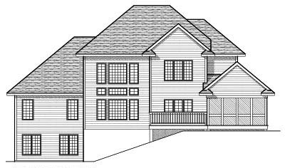 Rear Elevation Plan: 7-654