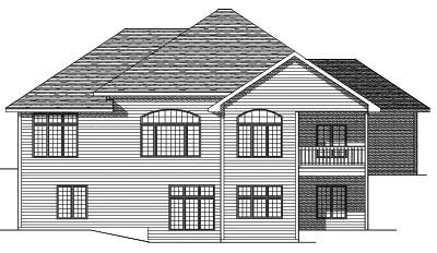 Rear Elevation Plan: 7-655