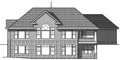 Rear Elevation Plan: 7-657