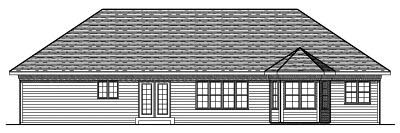 Rear Elevation Plan: 7-658