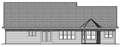 Rear Elevation Plan: 7-659
