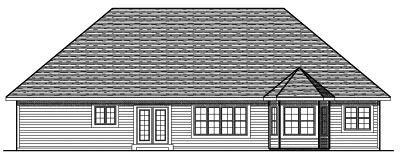 Rear Elevation Plan: 7-660