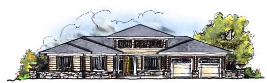 Prairie Style Floor Plans Plan: 7-661