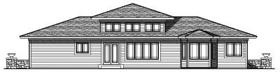 Rear Elevation Plan: 7-661