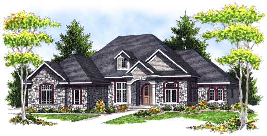 European Style House Plans Plan: 7-662