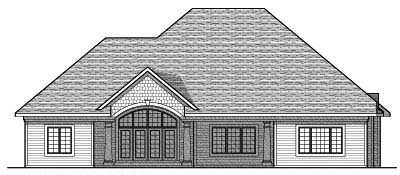 Rear Elevation Plan: 7-662