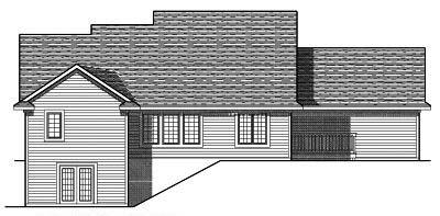 Rear Elevation Plan: 7-665